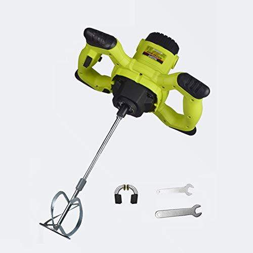Electric Plaster Paddle Mixer Mortar Paint Stirrer Whisk,Cement Mixer,6 Variable Speeds,Electric Pro Industrial Drill Mixer Stirring Tool for Mortar Grouts Paint Cement Plaster Plastering
