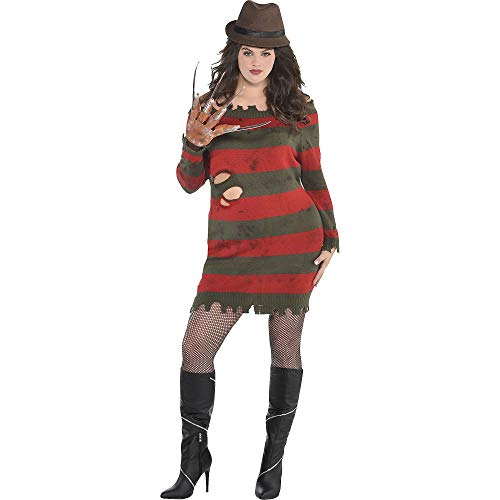 SUIT YOURSELF Miss Krueger Costume for Adults, A Nightmare on Elm Street, Plus Size (18-20), Includes Dress, Hat, Glove