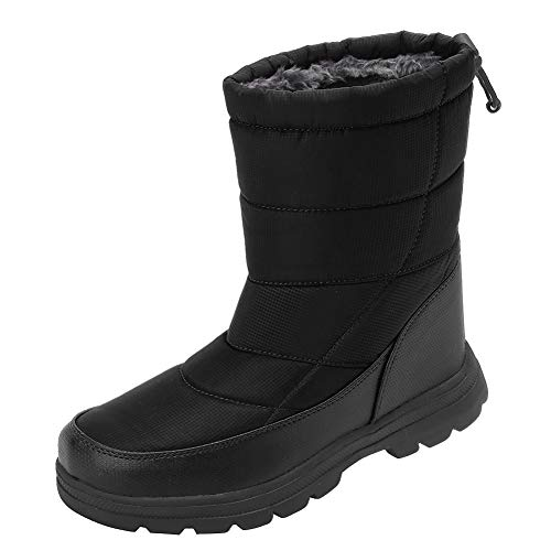 Men and Women's Waterproof Snow Boot Drawstring Cold Weather Boot, T.black-40