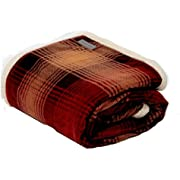 Eddie Bauer Nordic Plaid Throw, Full, Raisin