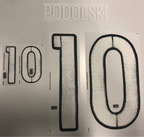 Flock Original EM 2016 DFB Deutschland Away Trikot Podolski 10