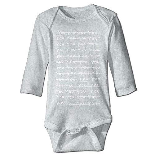 Body de manga larga para beb con diseo de orugas, unisex, para nios pequeos, de manga larga, traje de sol, color ceniza