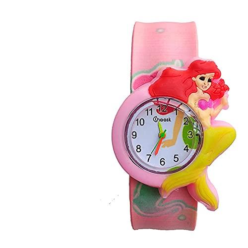 GUILING Kid Venta al por mayor Bebé Sirena Reloj Niño Juguetes Correa de Color Niños Slap Relojes Niñas Niños Regalo Niños Reloj Reloj de Pulsera de Cuarzo Niño