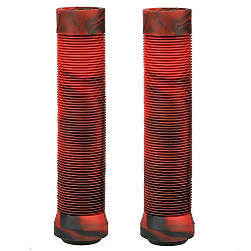 ABCBCA Publicaciones de Scooter y Bicicletas BMX Grips Scooter Grips Freestyle Grips Anti-Slip Handle Bar Grips (Color : Black with Red)