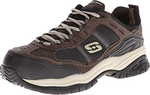 Skechers Men's Work Relaxed Fit Soft Stride Grinnel Comp, Brown/Black - 11.5 E US