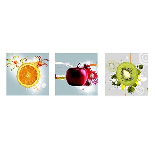 Homyl Moderna Arte Pittura Quadro Frutti di Stampa su Tela Decorazione della Parete,3pz - 20 * 20cm
