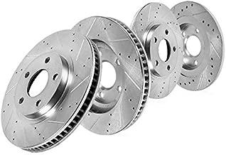 Callahan CDS03881 FRONT 320mm + REAR 279.8mm D/S 5 Lug [4] Rotors [ fit 2007-2013 Mazda 3 Mazdaspeed ]