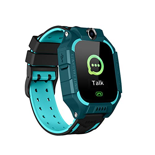 Kids Smart Watch Phone, Children Smartwatch with AGPS LBS Tracker Voice Chat SOS Emergency Call, Single Camera Phone Watch Gift for Boys Girls Compatible with Android iOS