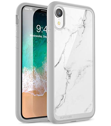 SUPCASE Funda para iPhone XR Case Hybrid Premium Case Funda Protectora Transparente [Unicorn Beetle Style] para iPhone XR (6.1 Pulgadas) 2018 (Mármol)