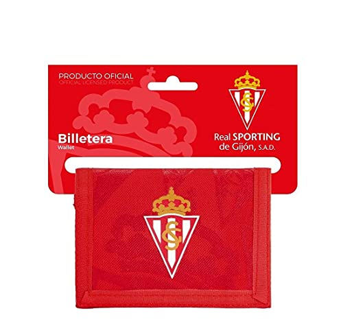Cartera Billetera con Cabecera de Oficial Real Sporting de Gijón, 125x95mm