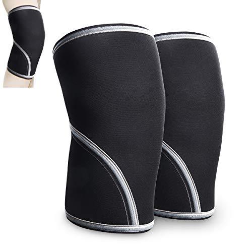 AETKFO Kniebandage [1 Paar] - 7 mm Dickes SBR-Schwamm für Fußball, Joggen oder Fitness,Weightlifting. (XL)