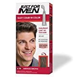 Just For Men Easy Comb-In Color (Formerly Autostop), Gray Hair Coloring for Men with Comb Applicator - Medium Brown, A-35 (Packaging May Vary)