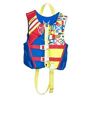 HO Sports 2019 Child Pursuit Neo Ski Wakeboard Wakesurf Vest Jacket Blue/Red/Yellow