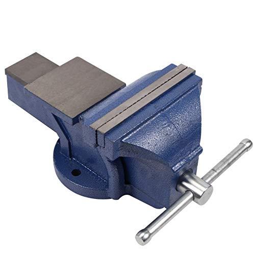 CCLIFE Feststehend Schraubstock 100/125/150 mm für Werkbank Werkbankschraubstock Parallelschraubstock, Modell:150mm