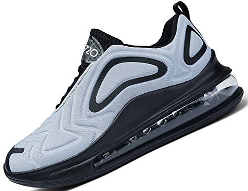 SINOES Hombre 91-219 720 Caña Baja Gimnasia Ligero Transpirable Casuales Sneakers de Exterior y Interior Zapatillas Deporte Zapatillas de Correr Gris 46 EU
