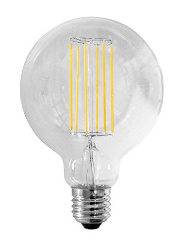 AlcaPower Lampadina Globo Edison Stile Vintage a Filamento LED 10W = 94W - 1400 Lumen - Dimensioni: d 125 x 175 mm Angolo Flusso Luminoso 360° (Bianco Naturale 4000K)