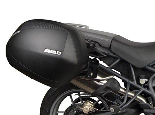SHAD T0TG81IF Soporte Maletas 3P System para Triumph Tiger 800/Xr/Xc, Negro