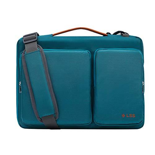 LSS Laptop Bag for Men/Women - Cool, Stylish & Durable Shoulder Sleeve Bag for 14'-15.6' Laptops - Includes Slip Resistant Shoulder Strap