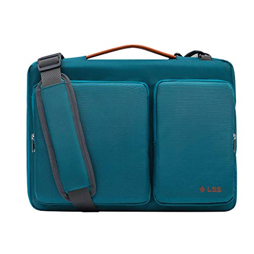LSS Laptop Bag for Men/Women - Cool, Stylish & Durable Shoulder Sleeve Bag for 14'-15.6' Laptops - Includes Slip Resistant Shoulder Strap - Compatible with Apple, Microsoft, Lenovo, HP, Dell, More