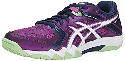 ASICS Women's Gel Court Control Volleyball Shoe, Grape/Navy/White, 10.5 M US