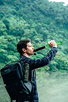 Filtre Eau Personnel Système de Filtration d'eau Élimine 99,9% des Bactéries pour Randonnée Camping Survie Voyage Backpaking Bushcraft Peche Carpe Chasse Accessoires