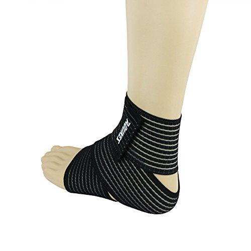 LY Bandage de Cheville Multifonction Protège Genou Pied pour Sport Gym Fitness Exercice Basketball Tennis Badminton - Noir