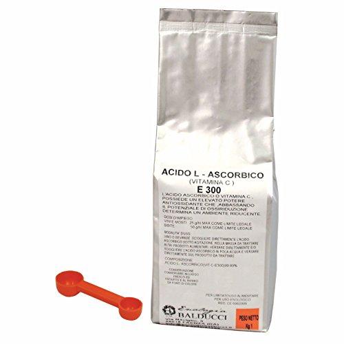 KG.1 ACIDO ASCORBICO PURO 100% CON DOSATORE - VITAMINA C - E 300 - NO OGM -GLUTINE FREE