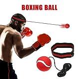 Boxing reflex Ball – Fight Ball reflex boxe esercizio, Portable Boxing punch Ball on string con fascia per allenamento velocità reazioni punch Focus per adulti/ragazzi ginnastica, boxe, MMA (rosso)