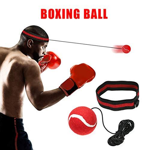 Boxen Reflex Ball - Fight Ball Reflex Training, Sport Boxing Punch Ball auf Schnur mit Stirnband Trainingsgeschwindigkeit Reaktionen Punch Fokus für Erwachsene / Kids Gym Boxen MMA