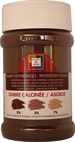 Pro G Déco Ombre CALCINEE Pigment Universel pour la Coloration des plâtres, enduits, ciments, Chaux éteinte, Blanc de meudon, Joints ciments, Joints colles, peintures, résines