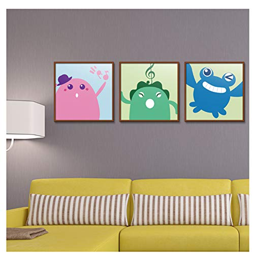 kip Muziek symbool Cartoon Abstract Spray Olieverf Canvas Decoratie tekening Hot Selling Sjaal-50X50cmx3 zonder frame