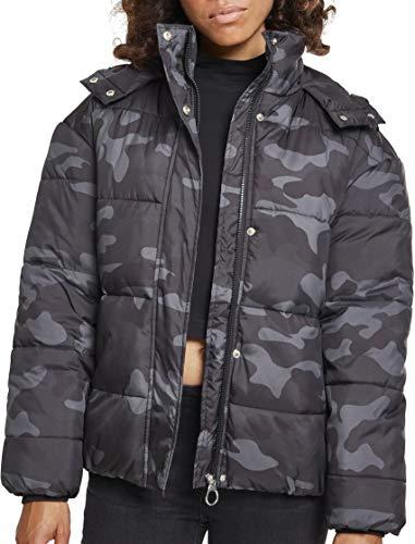 Urban Classics Damen Ladies Boyfriend Camo Puffer Jacket Jacke, Mehrfarbig (Darkcamo 00707), Small