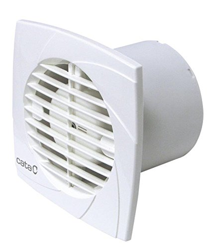 Cata Model B12 Serie E Glass | stille ventilator | afvoerventilator voor badkamer | wit | 6 stuks, 20 W, 43 decibel van kunststof, B 12 Plus T