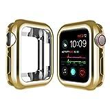 OLBLYING Mira la Cubierta de la Cubierta de la Correa para el Reloj de Apple 6 5 4 44 40mm 44mm Placa Protectora TPU Slim Soft para iWatch Series 3 2 1 38mm 42mm Accesorios