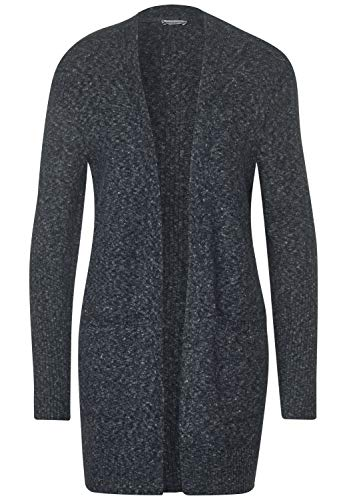 Street One Damen 253080 Style Canice Strickjacke, Dark Blue Melange, 36