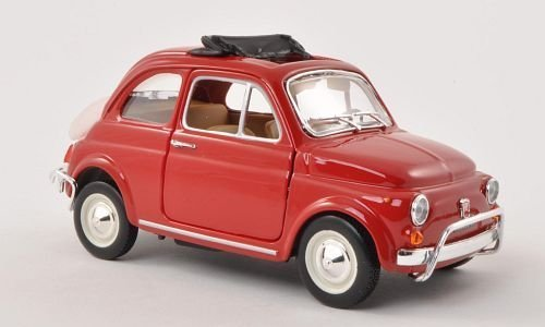 Fiat 500 L, rot, 1968, Modellauto, Fertigmodell, Bburago 1:24
