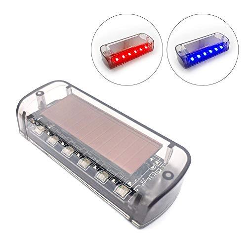 franktea Auto Solarstrom Simulierter Dummy Alarm Warnung Diebstahlsicherung 6 LEDs Blinken Blinkendes Licht des Sicherheitssystems