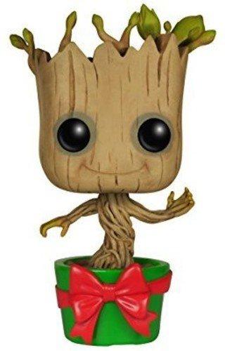 Funko- Pop Bobble Guardians O/T Galaxy Holiday Dancing Groot, 6196