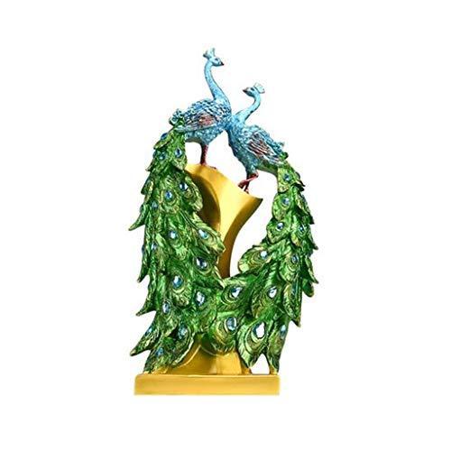 Zixin Peacock Blue Heron Metallgarten-Skulptur Set - Zwei Metall Cranes Perfekt for Gartendekoration - Metallgarten