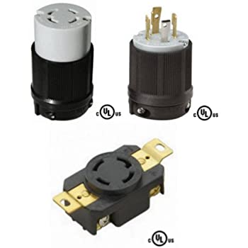 AC Power Plugs /& Receptacles SUPER-SAFEWAY NEMA L15-20 1301420025