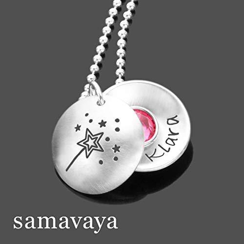 Kinderkette Maedchen KLEINE FEE 925 Silber Kette Kinderschmuck Namenskette