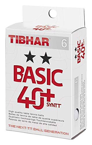 Tibhar Basic 40+ SYNTT 2-Stern 6er Pack