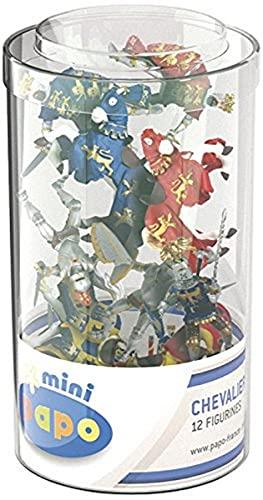 Papo 33016 Mini Ritter (Kunststoffbehälter, 12 Stück), Mehrfarben