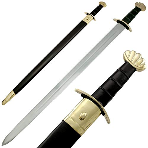 The Medieval Shop 40' Celtic Viking Norseman Spatha Godfred Sword with Brass Pommel Hand Made