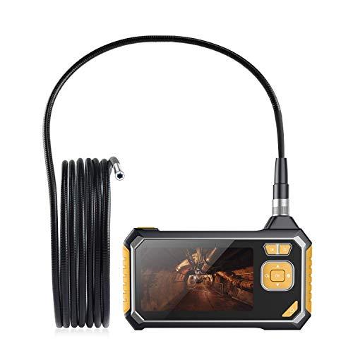 Endoscopio Industrial 5m Full HD 1080P, Cámara de Inspección con Tarjetas MicroSD 8GB, Pantalla LCD a Color de 4.3 Pulgadas, USB Recargable, Impermeable IPX67, 6 Luces LED, 8MM Diámetro para Reparar