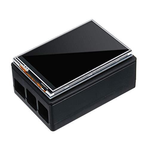 LAQI Vitrina Negra 320x480 Tft Press Screen LCD Vitrina para Frambuesa