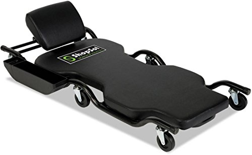 ShopSol 1010242 Heavy-Duty Automotive Creeper with Adjustable Headrest, 450-Pound Capacity