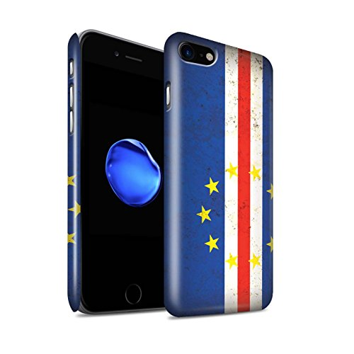 Gloss telefoonhoesje voor Apple iPhone SE 2020 Afrikaanse vlag Kaapverdië ontwerp glanzend Ultra slank dun harde snapcover
