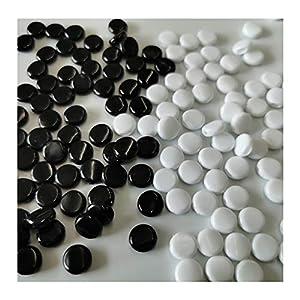 RMFC 200 Piezas Cierre de Cordón Cerradura de Cuerda de Silicona, ajustador de cordón elástico antideslizante hebilla de ajuste elástico redondo (100 Blanco + 100 Negro)