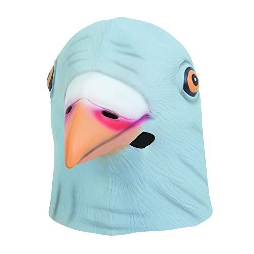 Bristol Novelty BM550 Taube Maske aus Latex, Grau, Unisex– Erwachsene, Einheitsgröße